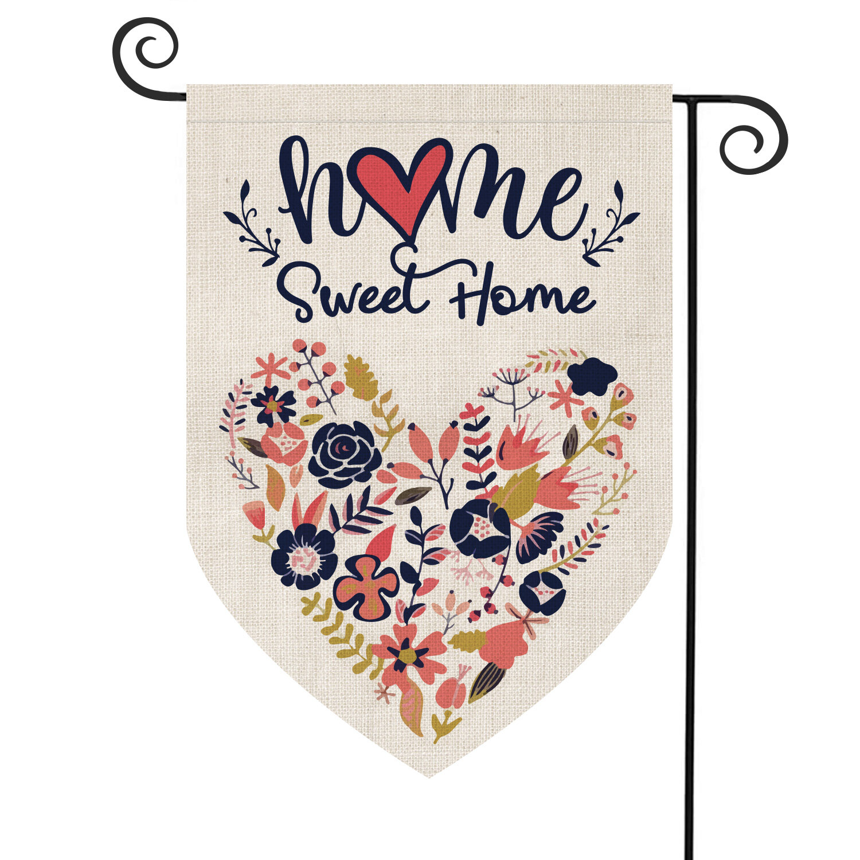 Avoin Colorlife Home Sweet Home 2 Sided Burlap 18 X 13 In Garden Flag Wayfair