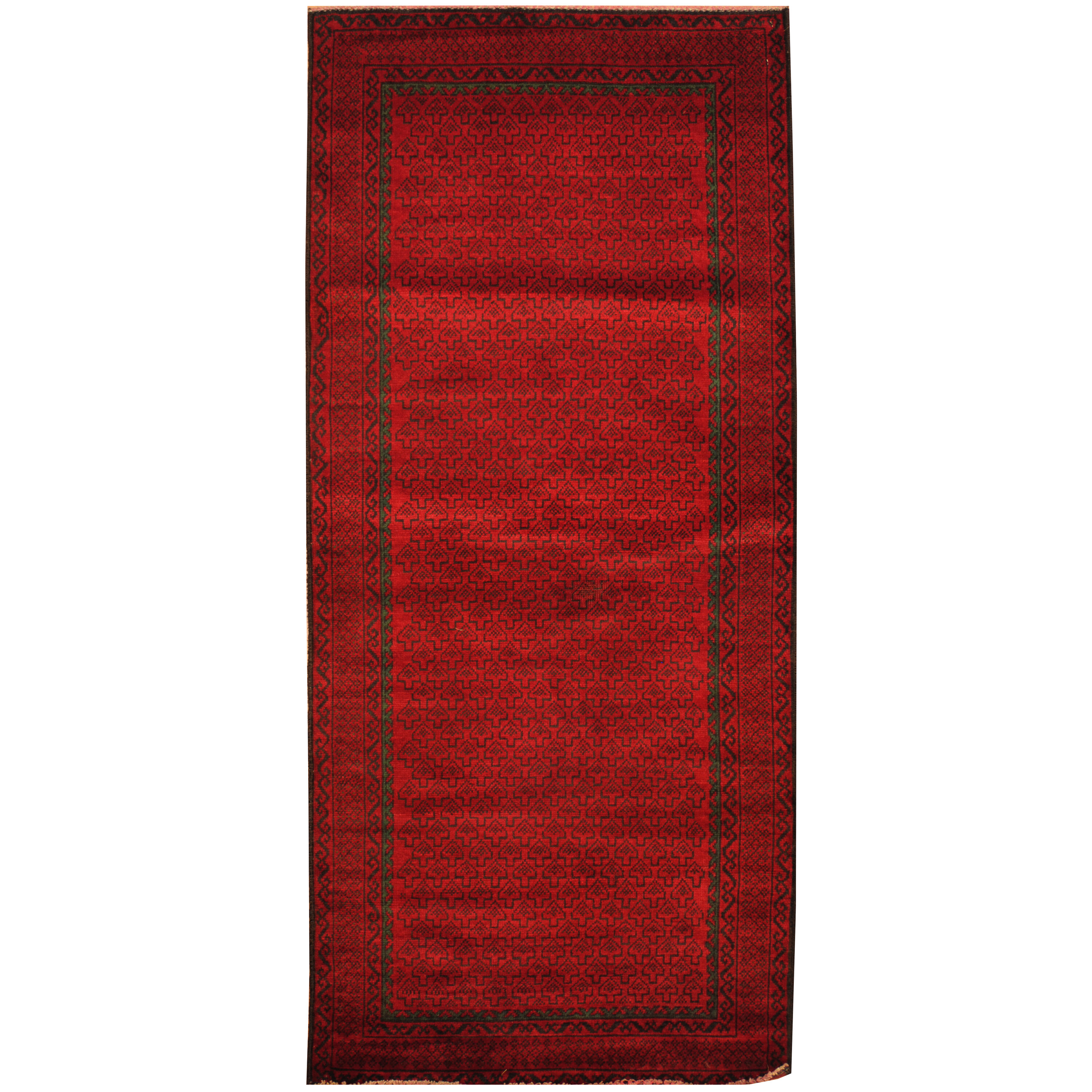 Isabelline One Of A Kind Prentice Hand Knotted Red 2 8 X 6 2 Runner Wool Area Rug Wayfair