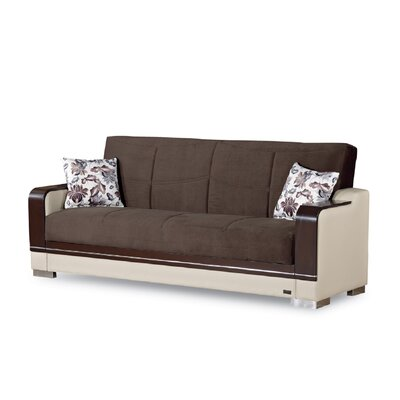 Brown Faux Leather Sofa Beds You Ll Love In 2019 Wayfair