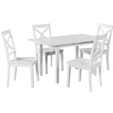 Spiller 5 Piece Extendable Solid Wood Dining Set by Winston Porter