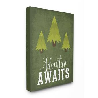 Stupell Industries Be Brave Camping Stretched Canvas Art Reviews Wayfair