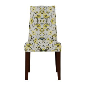 Haddonfield Gray/Yellow Parsons Chair (Set of 2) by Latitude Run