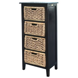 Water Hyacinth 4 Drawer Chest by Chic Teak