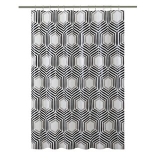 Hexagon Design PEVA Single Shower Curtain
