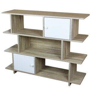 3 Tier Wood Geometric Bookcase