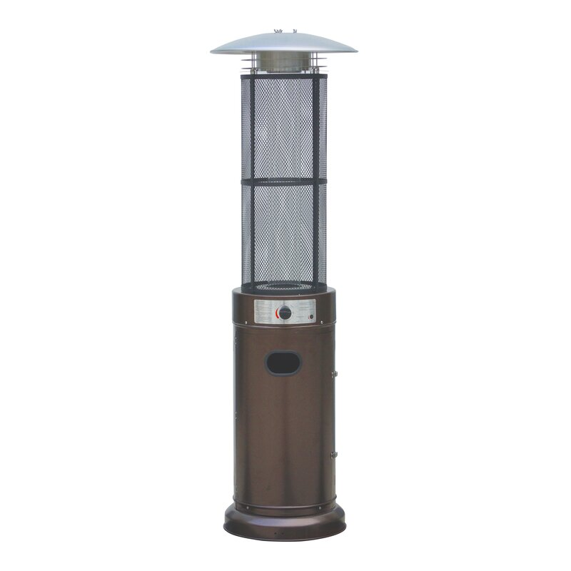 Circle Pyramid Home Commercial Glass Tube 34000 BTU Propane Patio Heater