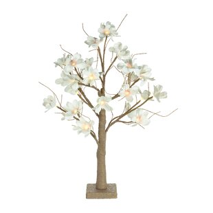 White Blossom Lighted Trees & Branches By The Seasonal Aisle