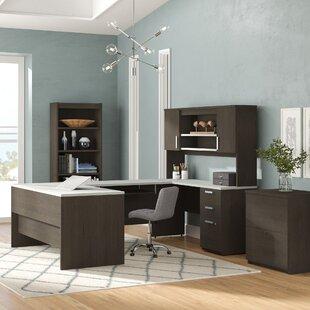 Barts 3 Piece U-Shape Desk Office Suite by Latitude Run