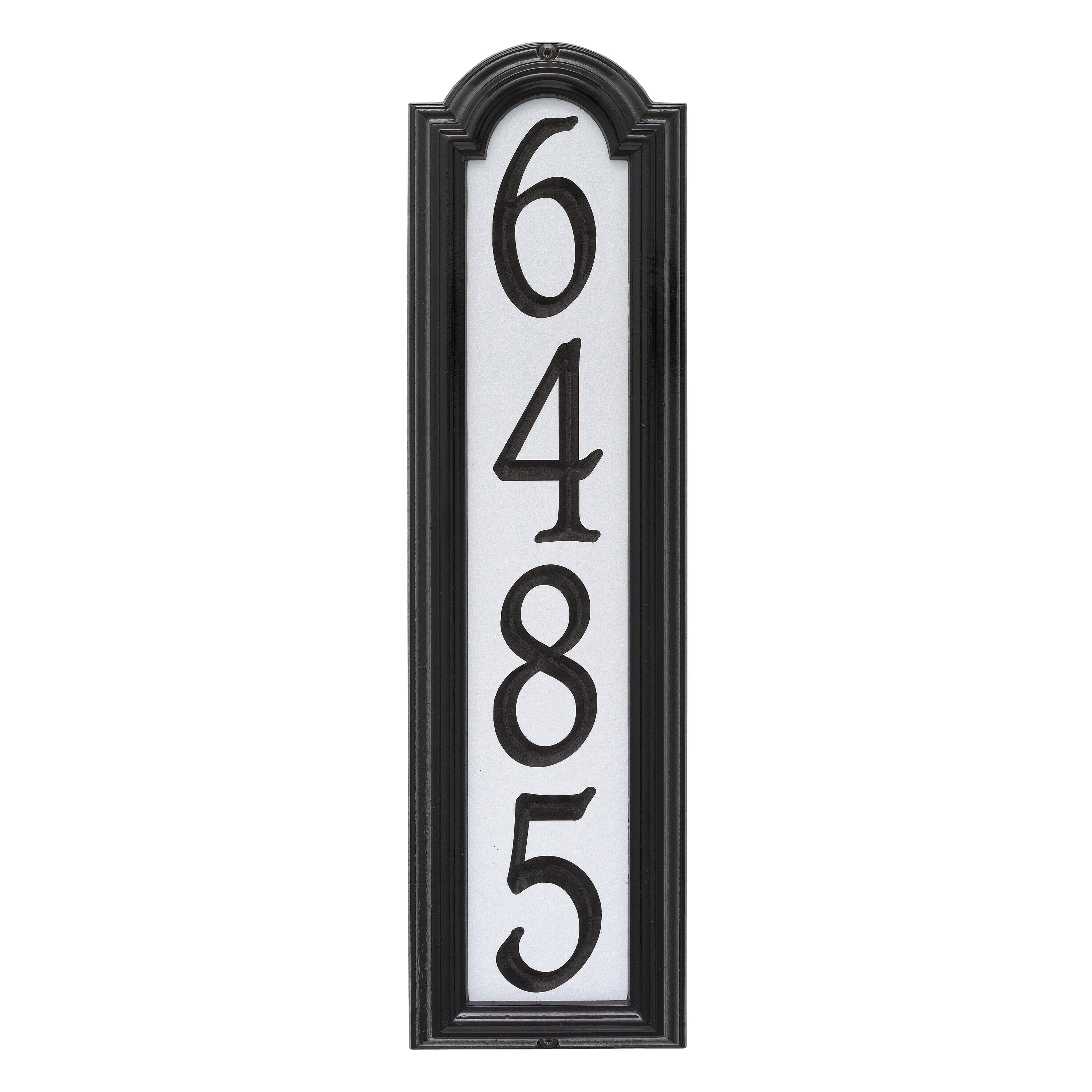 Whitehall Products Manchester Personalized Reflective Vertical 4 Line Wall Address Plaque Reviews Wayfair