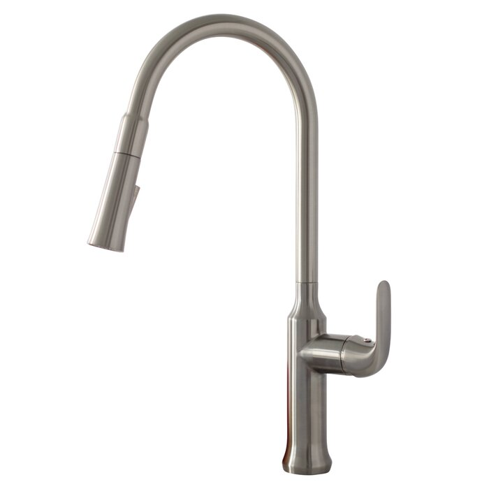 Stylish Forli Pull Down Single Handle Kitchen Faucet with Magnetic ...