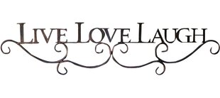 Metal Scroll Live Love Laugh Sign Wall Decor