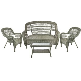 Pleasing Alpert Outdoor Patio Furniture 4 Piece Sofa Seating Group Bralicious Painted Fabric Chair Ideas Braliciousco