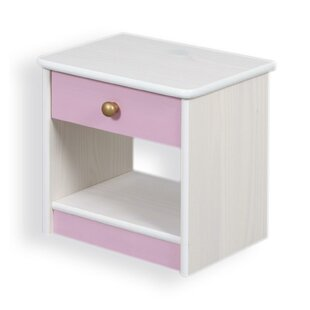 Amber 1 Drawer Bedside Table by Viv   Rae