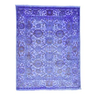 Great Price One-of-a-Kind Overdyed Hand-Knotted 8' x 10' Silk Purple Area Rug By 1800GETARUG