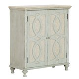 Hattie Wood and Fabric 2 Door Accent Cabinet by Ophelia & Co.