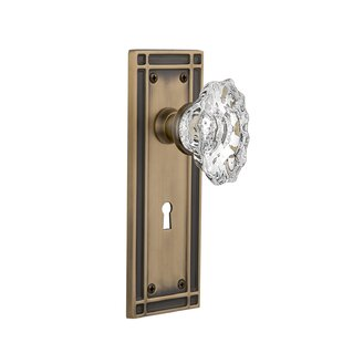 Chateau Interior Mortise Door Knob with Mission Plate by Nostalgic Warehouse