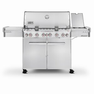 summit s670 6burner natural gas grill with smoker