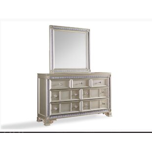 Chumbley 7 Drawer Double Dresser with Mirror