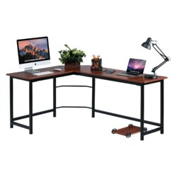 Stylish Desk red barrel studio ohioville stylish l-shaped computer desk