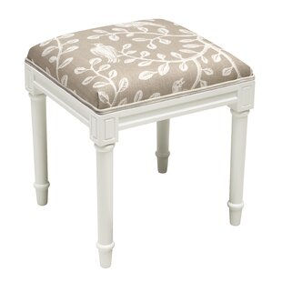 Birds on Vines Vanity Stool By 123 Creations