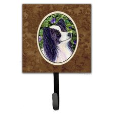 Papillon Leash Holder and Wall Hook by Caroline's Treasures