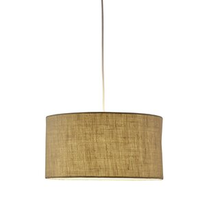 malcolm 1light brown drum pendant