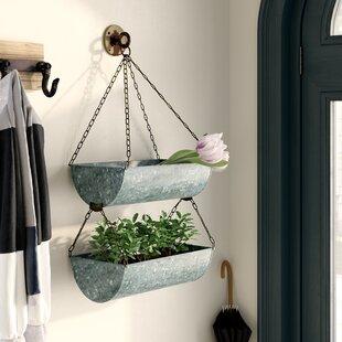 Wabansia 2 Piece Metal Hanging Basket By Blue Elephant