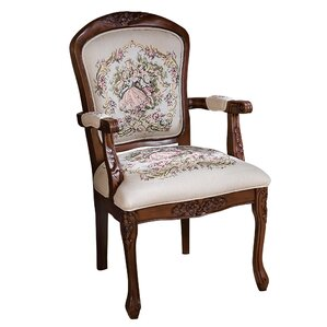 La Danse du Printemps Fauteuil Fabric Armchair by Design Toscano