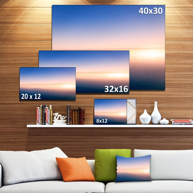 Designart Clear Blue Sky Above Clouds Photographic Print On Wrapped Canvas Wayfair