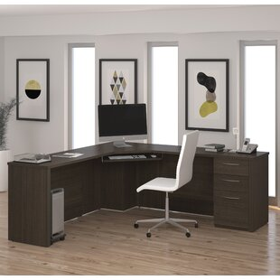 Karyn L-Shape Computer Desk With Hutch by Latitude Run Discount