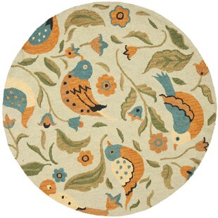 Alston Blossom Bird Wool Sage Area Rug by Red Barrel Studio
