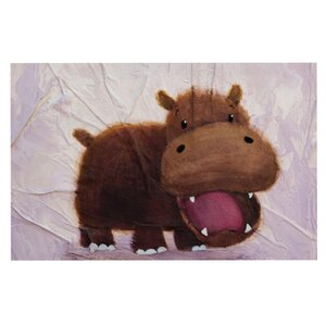 Rachel Kokko 'The Happy Hippo' Doormat