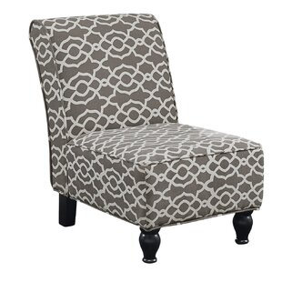 Monarch Specialties Inc. Bell Fabric Traditional Slipper Chair