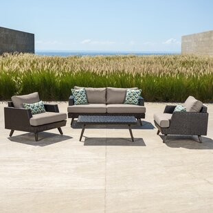 Shawnee 4 Piece Sunbrella Sofa Seating Group with Cushions by Brayden Studio