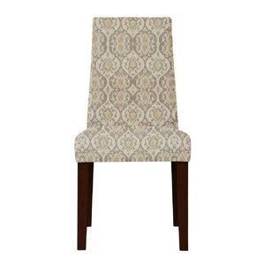 Haddonfield Beige Cotton Parsons Chair (Set of 2) by Latitude Run