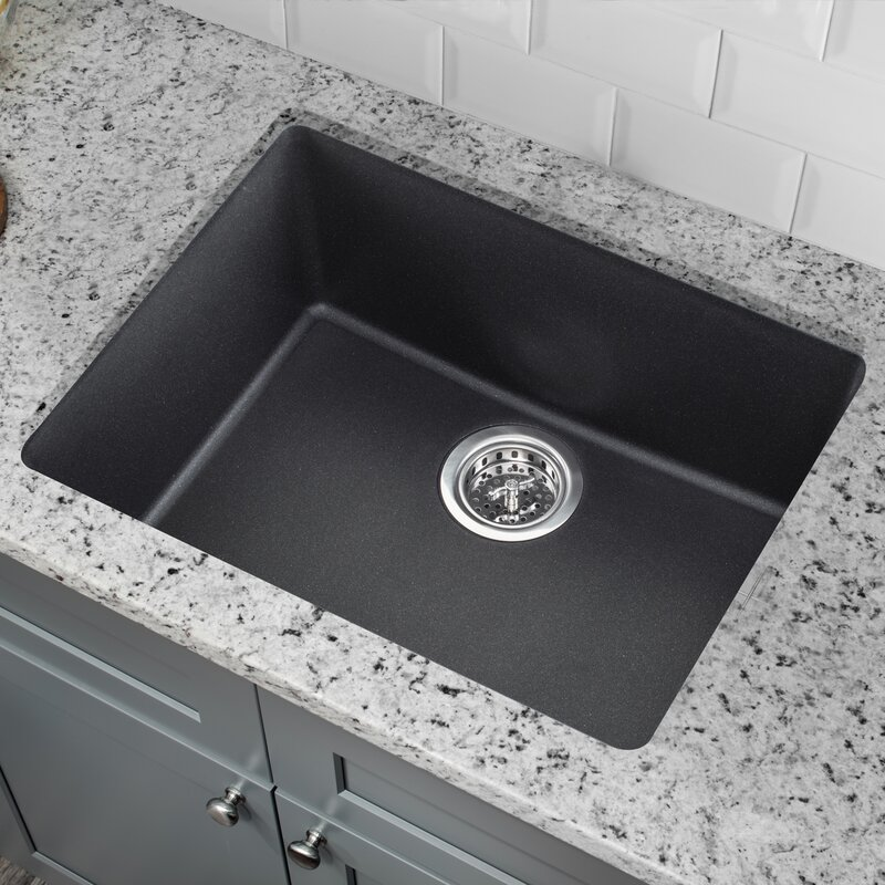 Soleil 2165 L X 1692 W Granite Single Bowl Kitchen Sink
