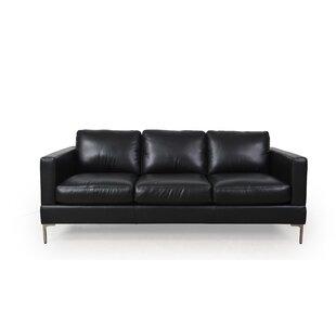 Shop Kathrin Leather Standard Sofa by Orren Ellis