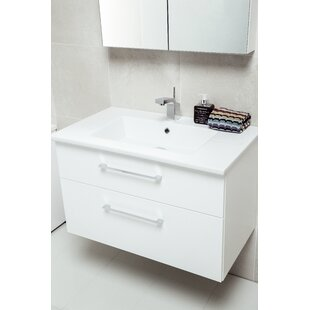 Philomene 80cm Wall-Mounted Vanity Unit Base By Ebern Designs