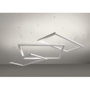 Burrill 2-Light Geometric Chandelier by Orren Ellis