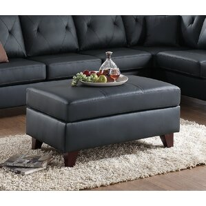 Frisby Leather Ottoman by Brayden Studio