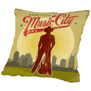 Music City Throw Pillow