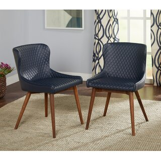 West Line Upholstered Dining Chair (Set of 2) by George Oliver SKU:EA453347 Purchase