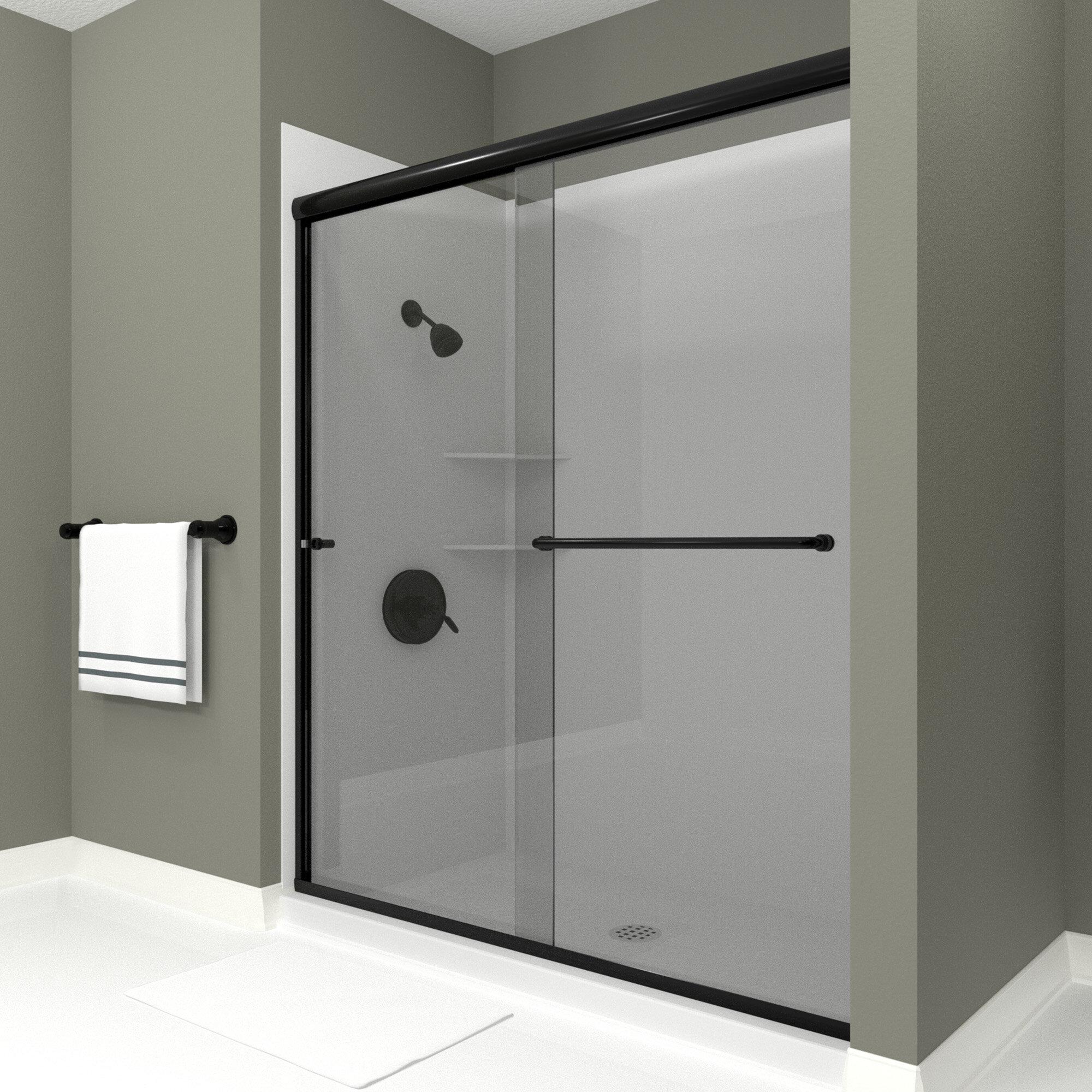 Ese 60 X 71 Bypass Semi Frameless Shower Door