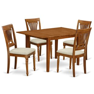 Lorelai 5 Piece Dining Set In, Upholstered by Alcott Hill Spacial Pricet