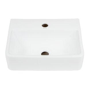 Top Reviews Ceramic 15'' Wall-Mount Bathroom Sink By Elanti