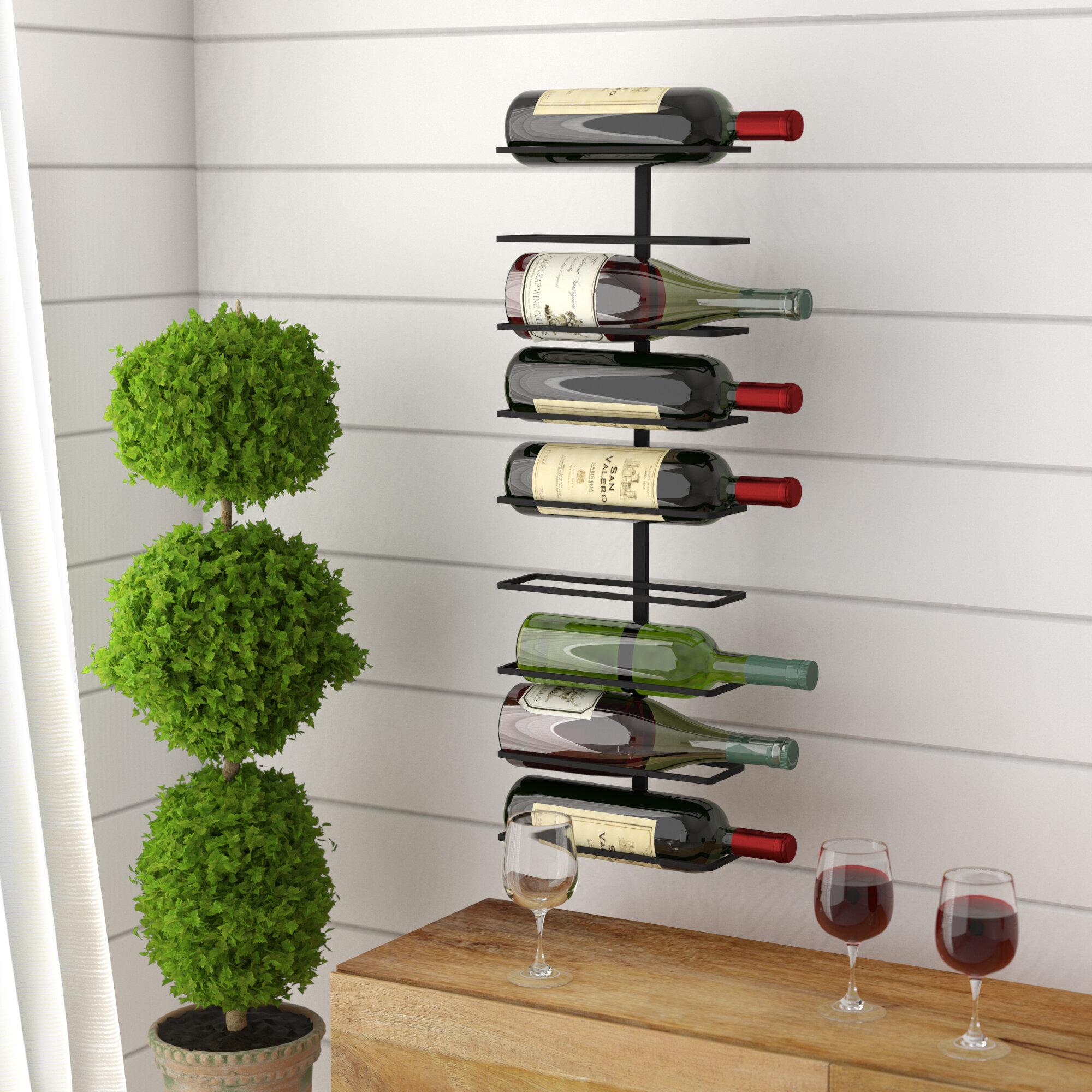 Support A Bouteille De Vin Mural support à vin mural pour 9 bouteilles