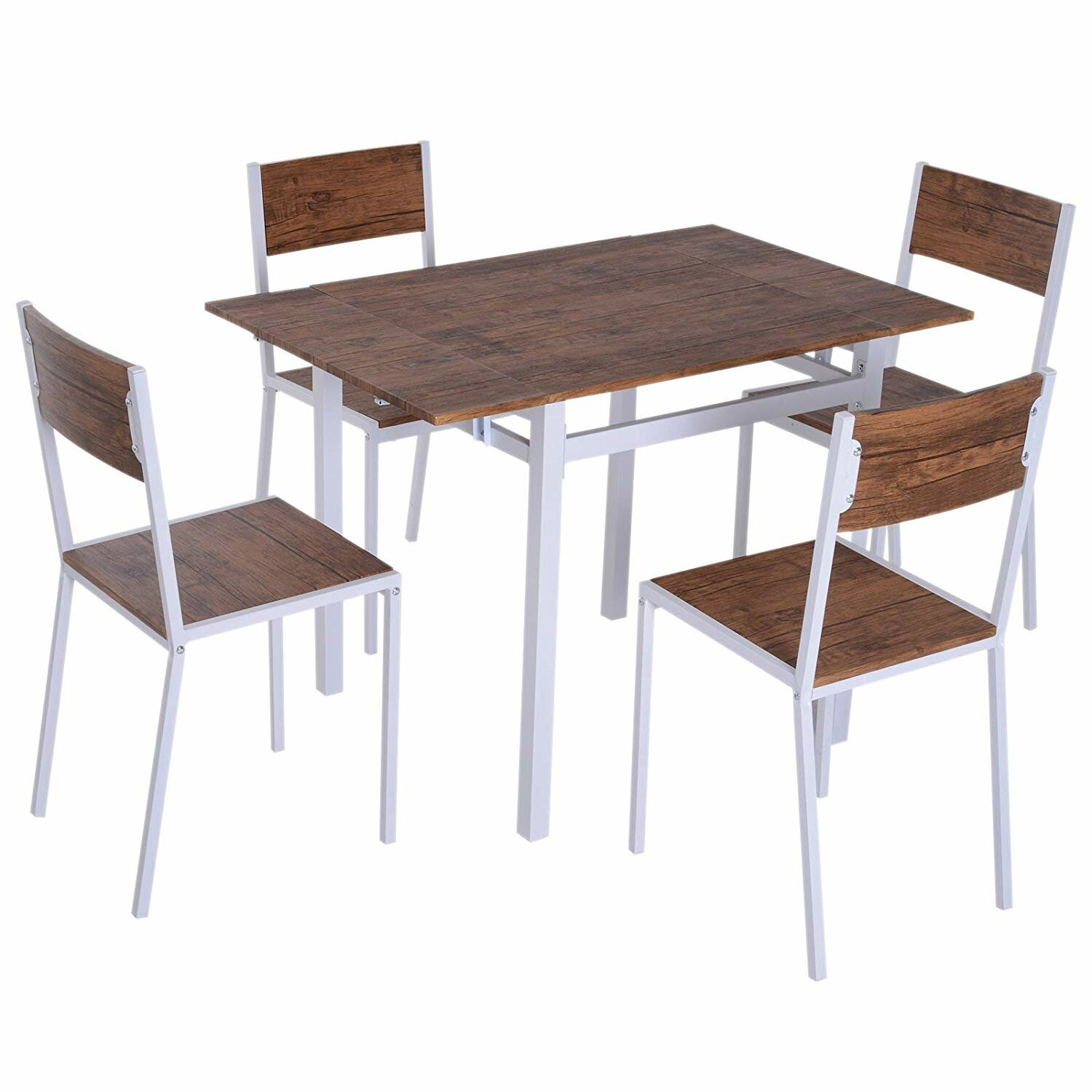 Picture of: 17 Stories Plaskitt Folding Dining Table Set With 4 Chairs Wayfair Co Uk