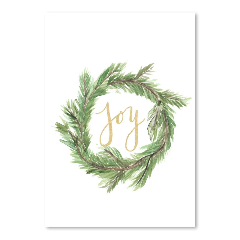 Wreath Joy Textual Art