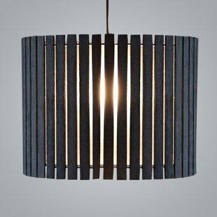 ZANEEN design Luz Oculta Wood Suspension Drum Pendant