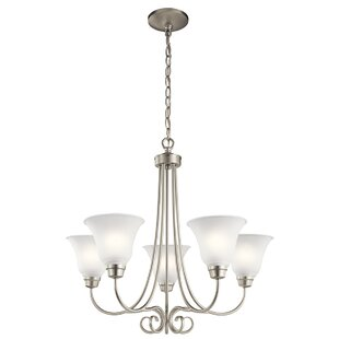 Bourneville 5-Light Shaded Chandelier by Darby Home Co